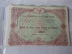 LA COMMERCIALE DES VINS (1923) MARSEILLE - Aandelen