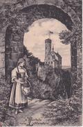 AK 's Bärbele Vom Lichtenstein - Feldpost Übungsplatz Münsingen Württemberg - 1914 (28711) - Frauen