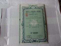 CHANTIERS ET ATELIERS DE PROVENCE (50 NF) MARSEILLE - Aandelen