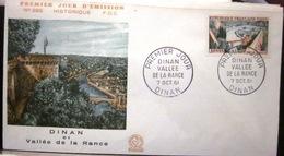 FDC - 1961 - YT 1315 - Dinan - Vallée Rance - Barrage - 1960-1969