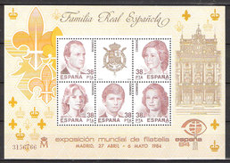 Spain  1984 International Stamp Exhibition ESPAÑA '84, Madrid, Mi  Bloc 27  MNH('') - 1931-Heute: 2. Rep. - ... Juan Carlos I