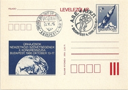 5130 Hungary FDC With SPM Postcard Transport Space Walk Apollo - Storia Postale