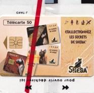 """TELECARTE 50 U SHEBA AVEC 3 """"L""""  NSB RARE !! (DIL 296) - France"""