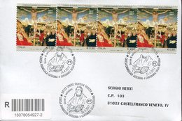 21290 Italia,fdc Registered 2017,evangelical Church Crucifixion,painting Lucas Cranach,500 Year Reform Martin Luther - Art