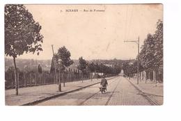 92 Sceaux Rue De Fontenay Cpa Animée Brouette , Carte Rare - Sceaux