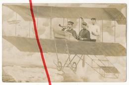 PostCard - Original Foto - Darmstadt - 1913 - Soldaten Flugzeug Im Fotostudio - Darmstadt