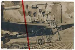 PostCard - Original Foto - Darmstadt - Ca. 1910 - Soldaten Flugzeug Zeppelin Im Fotostudio - Darmstadt