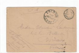 LCTN47/3 - CAMEROUN LETTRE EN FM DOUALA / BORDEAUX JUILLET 1918 CACHET TRESOR ET POSTES AUX ARMEES - Cameroun (1915-1959)