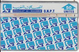 MOROCCO(L&G) - Patern Of ONPT Logos, O.N.P.T. Telecard 50 Units, CN : 412G, Used
