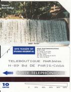 MOROCCO(Urmet) - Waterfall(reverse Teleboutique Marjana), Atlas Telecard, First Issue 10 Units, Used