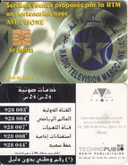 MOROCCO - Radio Television Marocaine(reverse B-Arabian Text), AVE Phone Telecard 50 Units, Chip GEM1.1, Used