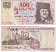 Hungría - Hungary 500 Forint 2008 Pick 196.b Ref 30 - Hong Kong