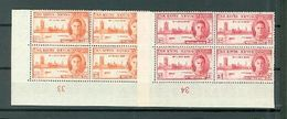 St Kitts Nevis 91-92 Peace Issue LL Blocks Of Four MNH  WYSIWYG A04s