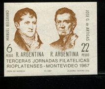 423672611 ARGENTINIE DB 1967 POSTFRIS MINTNEVER HINGED POSTFRIS NEUF YVERT BF16 BF 16 - Blocks & Sheetlets