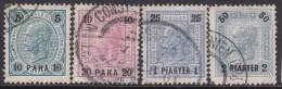 Austria In Turkish Empire 1900 Sc 32-35 Used - Austria