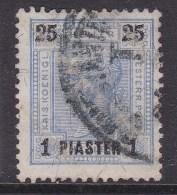 Austria In Turkish Empire 1900 Sc 34 Used - Austria