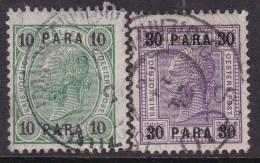 Austria In Turkish Empire 1907 Sc 43,45 Used - Austria