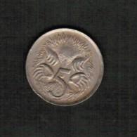 AUSTRALIA  5 CENTS 1967 (KM # 64) - Decimal Coinage (1966-...)