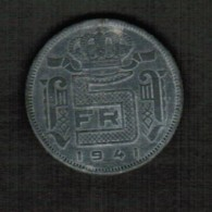 BELGIUM  5 FRANCS 1941 (French) (KM # 129.1) - 1934-1945: Leopold III