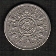 GREAT BRITAIN  2 SHILLINGS 1965 (KM # 906) - 1902-1971 : Post-Victorian Coins