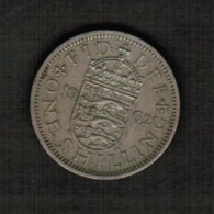 GREAT BRITAIN  1 SHILLING 1962 (KM # 904) - 1902-1971 : Post-Victorian Coins