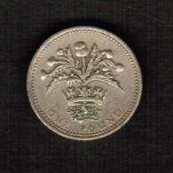 GREAT BRITAIN  1 POUND 1984 (KM # 934) - 1971-… : Decimal Coins