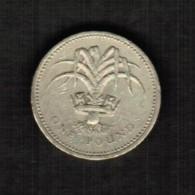 GREAT BRITAIN  1 POUND 1990 (KM # 941) - 1971-… : Decimal Coins