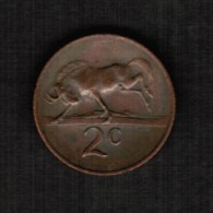 SOUTH AFRICA  2 CENTS 1965 (KM #66.2) - South Africa