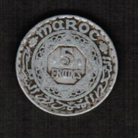 MOROCCO   5 FRANCS 1951 (AH 1370) (Y #48) - Maroc