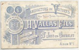 SAINT JUST EN CHEVALET DANS LA LOIRE  : MANUFACTURE DE VOITURES H. VALLAS FILS : CATALOGUE ALBUM N° 1 - Transporte