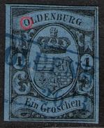 Oldenburg 26/3 Auf 1 Groschen Blau - Oldenburg Nr. 6 A - Pracht