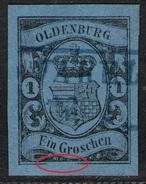 Varel Auf 1 Groschen Blau - Oldenburg Nr. 6 A II - Kabinett - Tiefst Geprüft