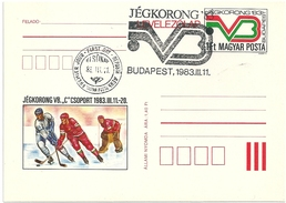 5151 Hungary FDC With SPM Postcard Winter Sport Ice Hockey