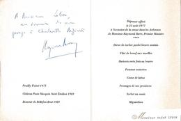 Août 1977 - Raymond BARRE (1924-2007) Premier Ministre,  économiste - Envoi Autographe Signé De 3 Lignes - Documents Historiques