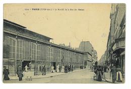 CPA 75 PARIS LE MARCHE DE LA RUE DES MOINES - Francia