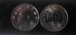 Rep China 2016  5 Yuan NT$5.00 Chiang Kai-shek CKS Coin - China