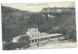 CPA  PLOMBIERES LES BAINS  LA GARE Carte Ecrite - Plombieres Les Bains