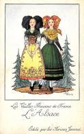 [DC10020] CPA - LES VIEILLES PROVINCES DE FRANCE EDITE PAR LES FARINES JAMMEL FIRMATA DROI L'ALSACE - NV - Old Postcard - Droit
