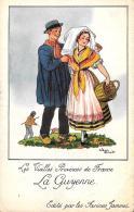[DC10022] CPA - LES VIEILLES PROVINCES DE FRANCE EDITE PAR LES FARINES JAMMEL FIRMATA DROI LA GUYENNE  NV - Old Postcard - Droit