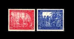 Deutschland / Germany: 'Leipziger Messe, 1947' / 'Leipzig Fair', Mi. 965-966; Yv. 30-31; SG 951-952 * - Zone AAS