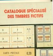 FRANCE 1994 CATALOGUE SPECIALISE DES T. FICTIFS Par GOMEZ.GILLES.LE BARON. RARE - France