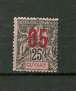 """GUYANE FRANCAISE   1912   N° 69   """" Timbre De 1892 Surchargé """"     Neuf Avec Trace De Charnière - Guyane Française (1886-1949)"""