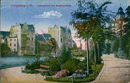AK Königsberg Kaliningrad, Schlossteich Mit Bogenschütze, Um 1918 (23527) - Ostpreussen