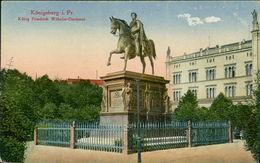 AK Königsberg Kaliningrad, König Friedrich Wilhelm-Denkmal, Um 1918 (23529) - Ostpreussen