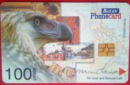 Philippines Phonecard Bayan 100 Pesos Eagle Mindanao