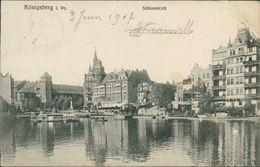 AK Königsberg Kaliningrad, Schlossteich, O 1907, Großer Eckknick Oben Rechts (23539) - Ostpreussen