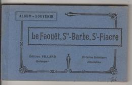 CARNET COMPLET 20 CPSM LE FAOUET (Morbihan) - Rues Eglise Sainte Barbe Saint Fiacre - Le Faouet