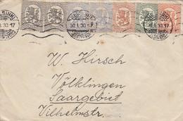 FINLAND.  30 1 1930. COVER.  HELSINKI TO VÖLKLINGEN SAAR 5 COLORS - Covers & Documents
