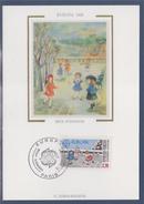 Europa Carte Postale 1er Jour Paris 29 4 89 N°2584 Jeux D'enfants: La Marelle, Cerceau, Corde à Sauter - 1980-89