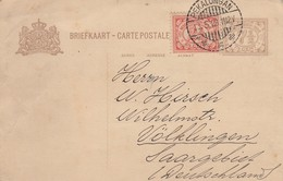 NEDERLAND INDIES. CARTE POSTALE.  13 5 29.  PEKALONGAN JAVA TO VÖLKLINGEN SAAR - Indes Néerlandaises
